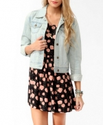Lightwash denim jacket from Forever 21 at Forever 21
