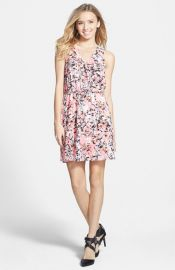 Lush and39Kylieand39 Print Skater Dress at Nordstrom