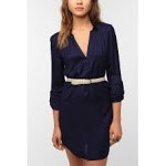 Navy shirtdress from Urban Outfitters at Urban Outfitters
