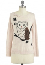 Owl sweater from Modcloth at Modcloth