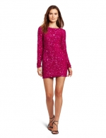 Pink sequin mini dress at Amazon