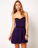 Purple leopard print dress at ASOS at Asos