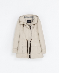 Quilted Parka at Zara