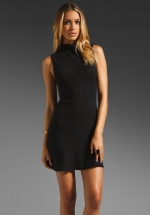 Rachel Bilsons black dress at Revolve