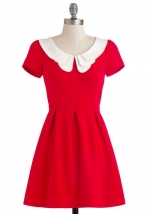 Red collared dress from Modcloth at Modcloth