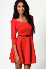 Red dress like Marys from Boohoo at Boohoo
