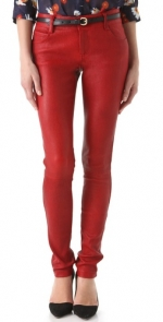 Red leather pants by Alice and Olivia at Shopbop