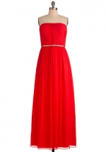 Red strapless maxi dress from Modcloth at Modcloth