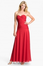 Red strapless sweetheart gown from Nordstrom at Nordstrom