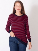 Red striped top from American Apparel at American Apparel