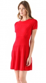 Red sweater dress by Shoshanna at Shopbop