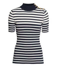 Rib-knit Top in Stripe at H&M