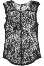 Robins black lace top at Net A Porter