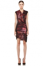Robins red Helmut Lang dress at Forward by Elyse Walker