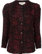 Red printed shirt by Isabel Marant at Farfetch