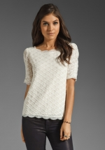 Robins white lace Joie top at Revolve