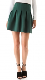 Serena's green pleated skirt at Shopbop