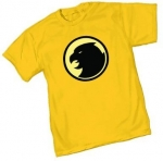 Sheldon's yellow hawk man shirt at Amazon