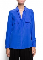 Similar blue shirt from MANGO at Mango