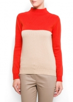 Similar colorblock sweater at Mango