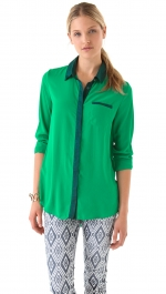Similar green shirt by Free People at Shopbop