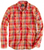 Similar plaid mens shirt from J Crew at J. Crew
