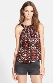 Socialite Print High Neck Tank at Nordstrom