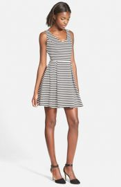 Soprano Textured Skater Dress at Nordstrom