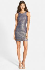 Speechless Foil Glitter Knit Body-Con Dress at Nordstrom