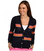 Stripe mesh cardigan by Juicy Couture at 6pm