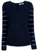 Striped sleeve sweater by Inhabit at Farfetch