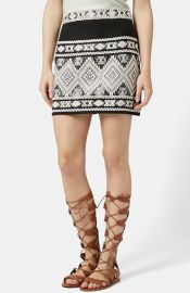 Topshop Blanket Skirt with Back Cutout at Nordstrom