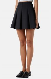 Topshop Pleated Scuba Skirt at Nordstrom
