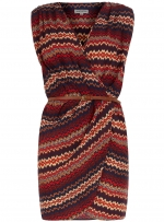 Zig zag wrap dress like Ceces at Dorothy Perkins