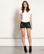 Zoes leather shorts by Rag and Bone at Rag and Bone