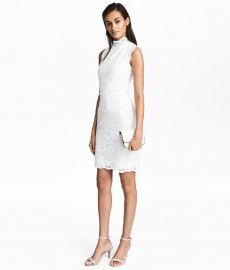 Lace Dress with Cap Sleeves at H&M
