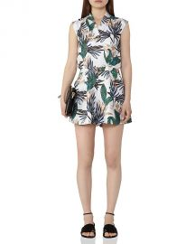 Reiss Bette Printed Silk Romper at Bloomingdales