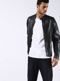 Diesel L-ALL-ROW Leather Jackets at Spring