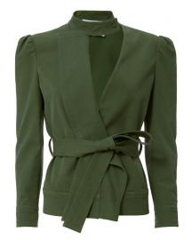 10 Crosby Derek Lam Ruffle Twill Belted Jacket at Intermix