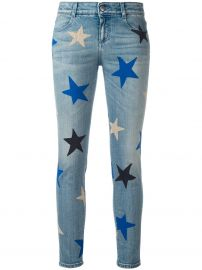 Stella McCartney Star print cropped jeans at Farfetch