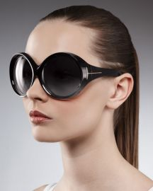 Ali Oversized Round Sunglasses by Tom ford at Neiman Marcus