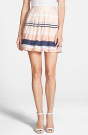 Pleated Stripe Skirt by Chelsea28 at Nordstrom