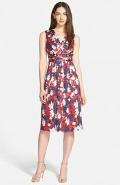 Print Stretch Silk Surplice Dress by Classiques Entier at Nordstrom