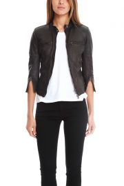R13 Cafe Racer Leather Jacket  at Blue cream