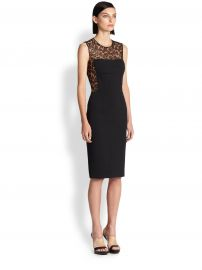 Scuba Leopard Lace Sheath at Saks Fifth Avenue