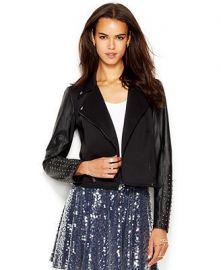 Studded Faux-Leather Moto Jacket by RACHEL Rachel Roy at Macys