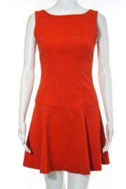 Zara Woman Orange Sleeveless Scoop Neck Above Knee Shift A Line Dress at eBay