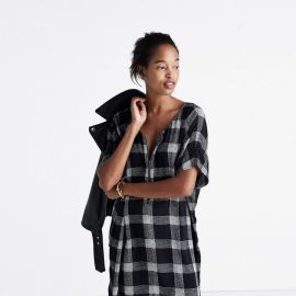Zip-front Dress in Buffalo Sketch at Madewell