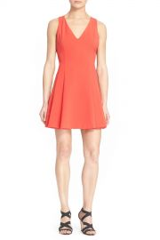 039 Elva  039  V-Neck Fit  amp  Flare Dress at Nordstrom Rack