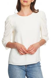 1 STATE Ruched Sleeve Blouse at Nordstrom